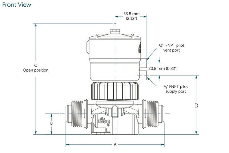 integra u00ae plus ws pneumatic valves  1 u0026quot  orifice  2